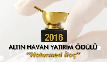 Altın Havan Yatırım Ödülü'nün 2016 yılındaki sahibi Naturmed İlaç oldu!